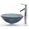 Glass Vessel Sink and Sheven Faucet
