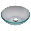 Kraus Frosted 14 inch Glass Vessel Sink with PU-MR