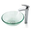 "Kraus 14"" Vessel Sink and Visio Bathroom Faucet"