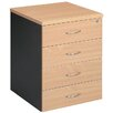 <strong>Mobile Pedestal with 4 Drawer</strong> by Cooper Furniture