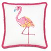 <strong>Eastern Accents</strong> Alexis Hand-Painted Flamingo Accent Pillow