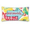 Eastern Accents Alexis Mermaids Applique Accent Pillow