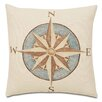 Eastern Accents Nautical Captain's Compass Pillow