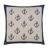 Eastern Accents Ryder Block Printed Anchors Accent Pillow