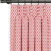 Eastern Accents Matilda Pirouette Three-Finger Cotton Pleated Curtain Single Panel