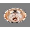 Bates & Bates Sculpted Metals Round Hammertone Drop In Bathroom Sink