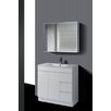 QD Series 90 cm Shadow Line Slim China Top Vanity with Kickboard Ostar