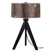 "Lights Up! Woody 28"" H Table Lamp with Drum Shade"