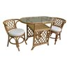 <strong>Cane Honeymoon 3 Piece Criss Cross Back Dining Set</strong> by By Designs