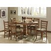By Designs Mustang Extensive Dining Table and 4 Mustang Chairs Set