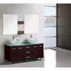 <strong>Modern Freestanding Vanity with Double Bathroom Cabinet in Brown 150cm</strong> by A & L Imports