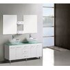 Modern Freestanding Vanity with Double Bathroom Cabinet in White 150cm A & L Imports