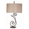 "Pacific Coast Lighting Essentials Kathy Ireland Garden Symphony 33.5"" H Table Lamp with Drum Shade"