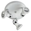 <strong>Crompton Lighting</strong> Three Light Round Ceiling Spotlight in White