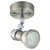 One Light Fuorescent Ceiling Spotlight in Satin Chrome Crompton Lighting