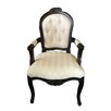French Provincial Carver Chair in Black Indodeco Gallery