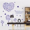 <strong>HM Wall Decal</strong> Lilac Flowers and Birds Wall Art Decal