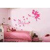 <strong>Personalised Name with Fairy and Butterflies Wall Sticker</strong> by HM Wall Decal