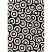 Chandra Rugs Davin Black / White Geometric Rug
