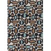 Chandra Rugs Davin White Abstract Rug