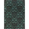 Chandra Rugs INT Green/Black Floral Area Rug