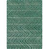 Chandra Rugs Davin Vibes Pattern Green Area Rug
