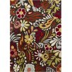 Chandra Rugs Gagan Brown Floral Area Rug