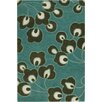 Chandra Rugs Amy Butler Bright Buds Blue/Black Area Rug