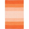 <strong>Chandra Rugs</strong> India Orange Striped Rug