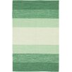 Chandra Rugs India Green Striped Rug