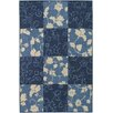 Chandra Rugs Plaza Blue Floral Rug