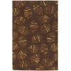 Chandra Rugs Rowe Brown Leaf Area Rug