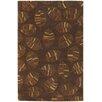 Chandra Rugs Rowe Brown Leaf Area Rug