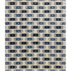 Chandra Rugs Rowe Blue/White Area Rug