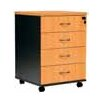 <strong>Logan 4 Drawer Mobile Pedestal</strong> by Cooper Furniture