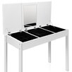 3 Drawer Dressing Table Jewellery Cabinet w/ Mirror White i.Life