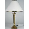 Brazil Table Lamp in Antique Brass with Cream Shade Oriel Lighting