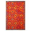 <strong>Lhasa Orange and Violet Rug</strong> by Fab Rugs