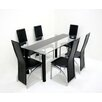 Glass Top Dining Table with 6 Chairs Set Innova Australia