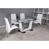 7 Piece Modern Dining Set with White Chairs Innova Australia