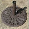 75 Pound European Design Cast Iron Umbrella Base