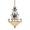 Firenza 2 Light Inverted Pendant