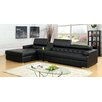 Hokku Designs Derrikke Tufted Sectional with Speaker Console