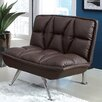 Hokku Designs Leland Leathrette Convertible Chair and Ottoman