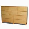 Gothic Furniture Flat Shaker 10 Drawer Dresser