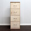 Gothic Furniture Flat Iron 4-Drawer Vertical File