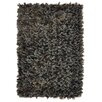 Kosas Home Guimauve Ebony Sable Shag Grey Area Rug