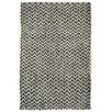 Kosas Home Devisal Black/Bleach Herringbone Indoor/Outdoor Area Rug