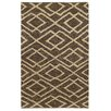 Kosas Home Athena Chocolate/Bleach Soumak Indoor/Outdoor Rug