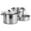 <strong>4-Piece Stainless Steel Pasta Cooker / Steamer</strong> by Prime Pacific
